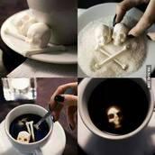 jewels,sugar skull,coffee,skull,home decor,skeleton,halloween,halloween decor