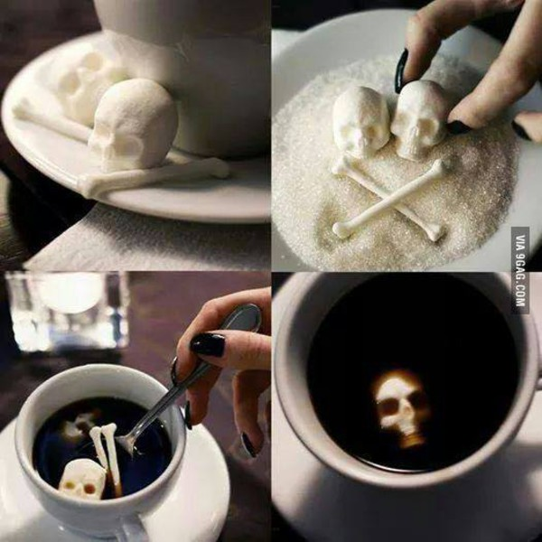 jewels sugar skull coffee skull home decor skeleton halloween halloween decor