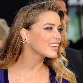 jewels jewel cult jewelry earrings gold earrings gold ear jackets amber heard celebrity