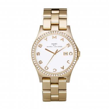 Marc by marc jacobs ladies yellow gold bracelet watch