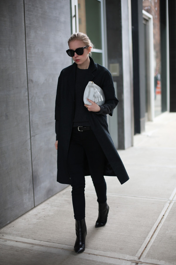 jacket sunglasses sweater bag jeans belt shoes anya hindmarch