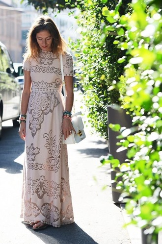 dress blogger womens cap sleeves dresses cap sleeve sleeve sleeves cap blush blush pink pink dress cream dress cream maxi dress maxi floor length dress floor length lace dress lace skirt lace wedding dresses anthropologie pom poms detail details cute dress feminine boho bohemian boho dress