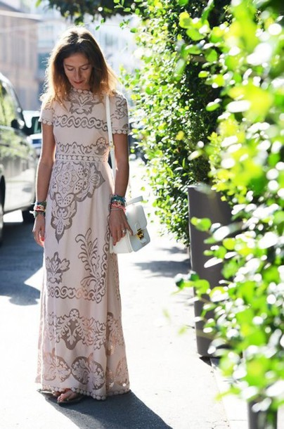 dress blogger women cap sleeves dresses cap sleeve sleeve sleeves cap blush blush pink pink dress cream dress cream maxi dress maxi floor length dress floor length lace dress lace skirt lace wedding dress anthropologie pom poms detail details cute dress feminine boho bohemian boho dress