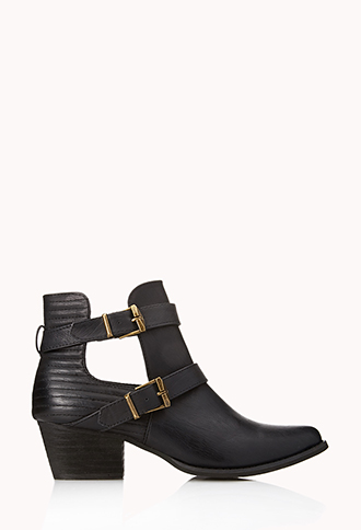 Western Cutout Booties | FOREVER21 - 2000128614