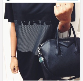 shirt wang alexander wang crop mesh black shirt american apparel