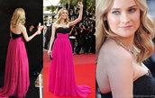 diane kruger,pink dress,dress