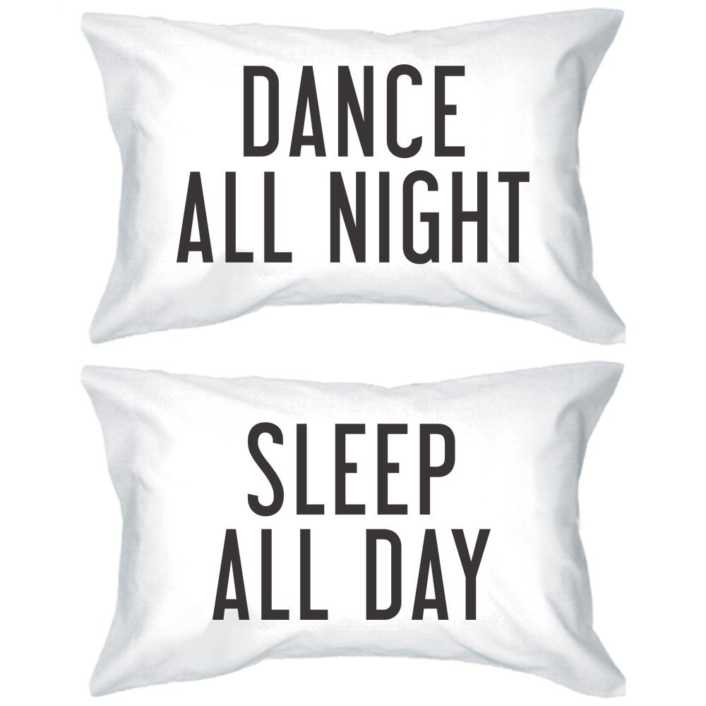 Amazon.com: Bold Statement Pillowcases 300-Thread-Count Standard Size 21 x 30 - Dance All Night Sleep All Day: Home & Kitchen