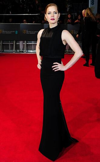 dress victoria beckham dress maxi dress red carpet dress amy adams celebrity classy dress black dress sleeveless dress mesh dress