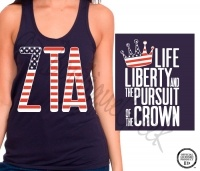 Keep calm and srat on / life liberty and the pursuit of the crown. >> the fact these shirts are for my chapter. #zta