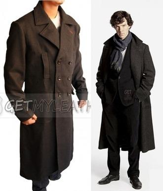 coat clothes wool wool coat sherlock holmes sherlockholmes