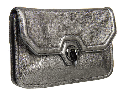 Zoe Eve Clutch Pewter Goatskin - Zappos Couture