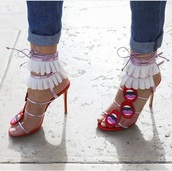 shoes,heels,pink,red