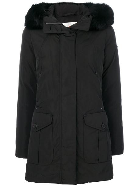 Peuterey coat feathers fur women black