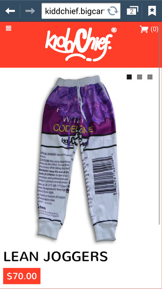 emoji pants codeine design sweatpants lean kiddchief kidd chief pants
