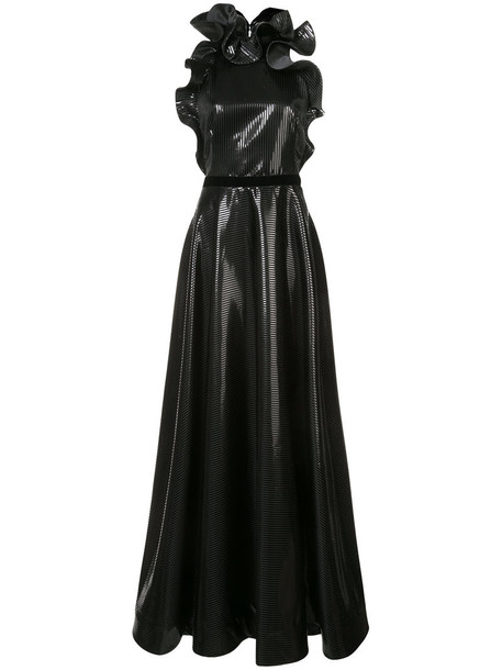 Nha Khanh gown metallic women black dress