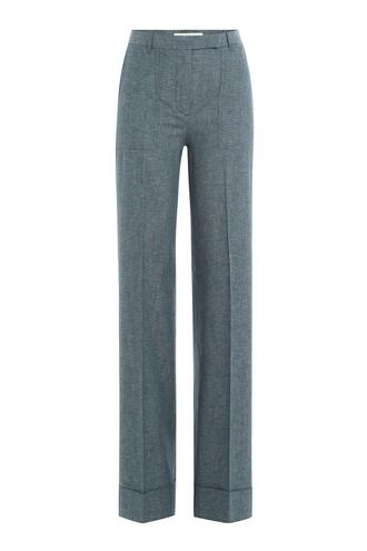pants cotton blue