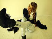 wedges,black,gol,jeans,top,scarf,coat,shoes