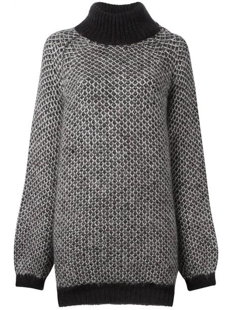Marc Jacobs jumper oversized women mohair silk grey sweater