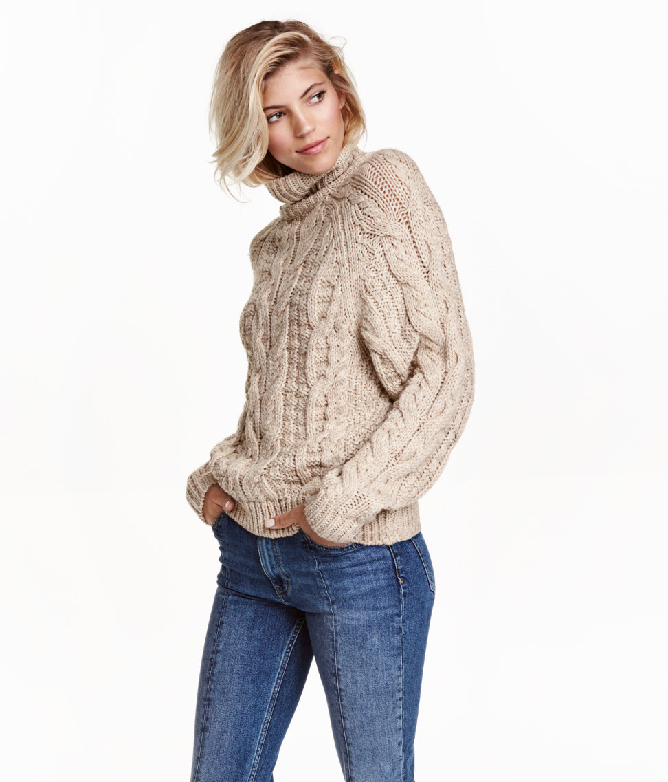 Cable-knit Turtleneck Sweater $19.99