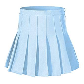 Amazon.com: Women High Waist Solid Pleated Mini Slim Single Tennis Skirts ( 2XL, Light blue): Clothing