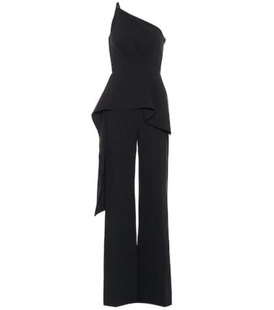 Roland Mouret Charlesworth one-shoulder jumpsuit in black