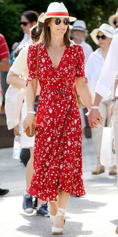 dress,midi dress,pippa middleton,streetstyle,wrap dress