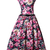 Buy Vintage Rose Floral Print Cotton 50s Swing Party Prom Dress Belted Fashion Dresses under $19.99 only in Dressthat.