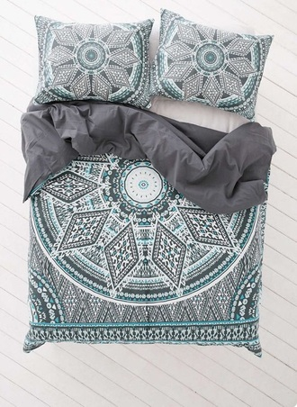 home accessory blue grey home decor room accessoires bedding bed room set bed  sheets black