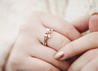 jewels bows cute gold ring holiday gift