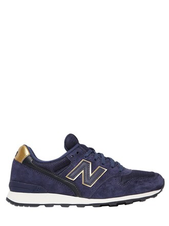 mesh sneakers suede navy shoes