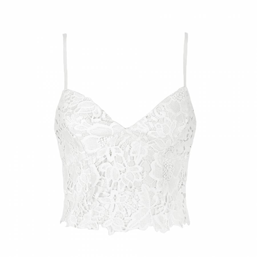 Crochet lace bra top