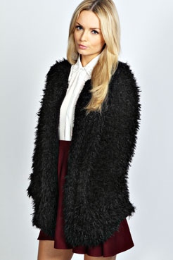 Ava Fleece Lined Soft Touch Faux Fur Jacket at boohoo.com