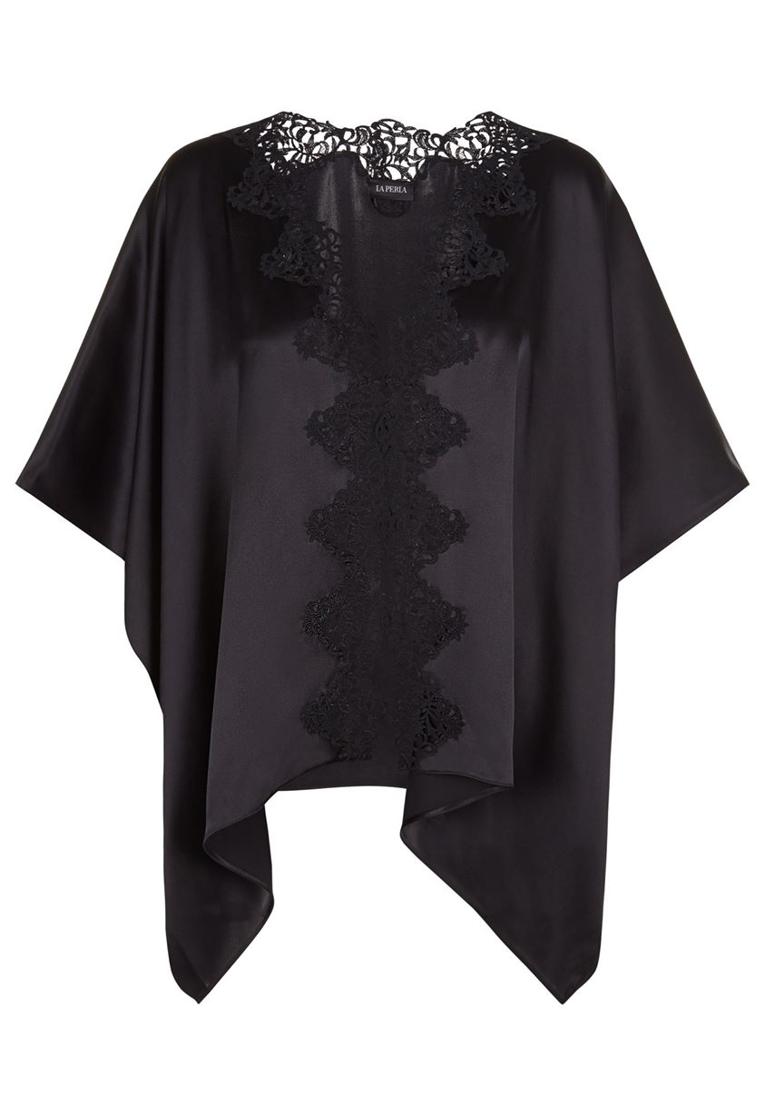 La Perla Petit Macrame Short Night Robe Women > Nightwear > Dressing Gown Robes Black - Nr0002 One Size