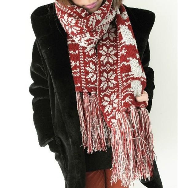 scarf retro snowflake