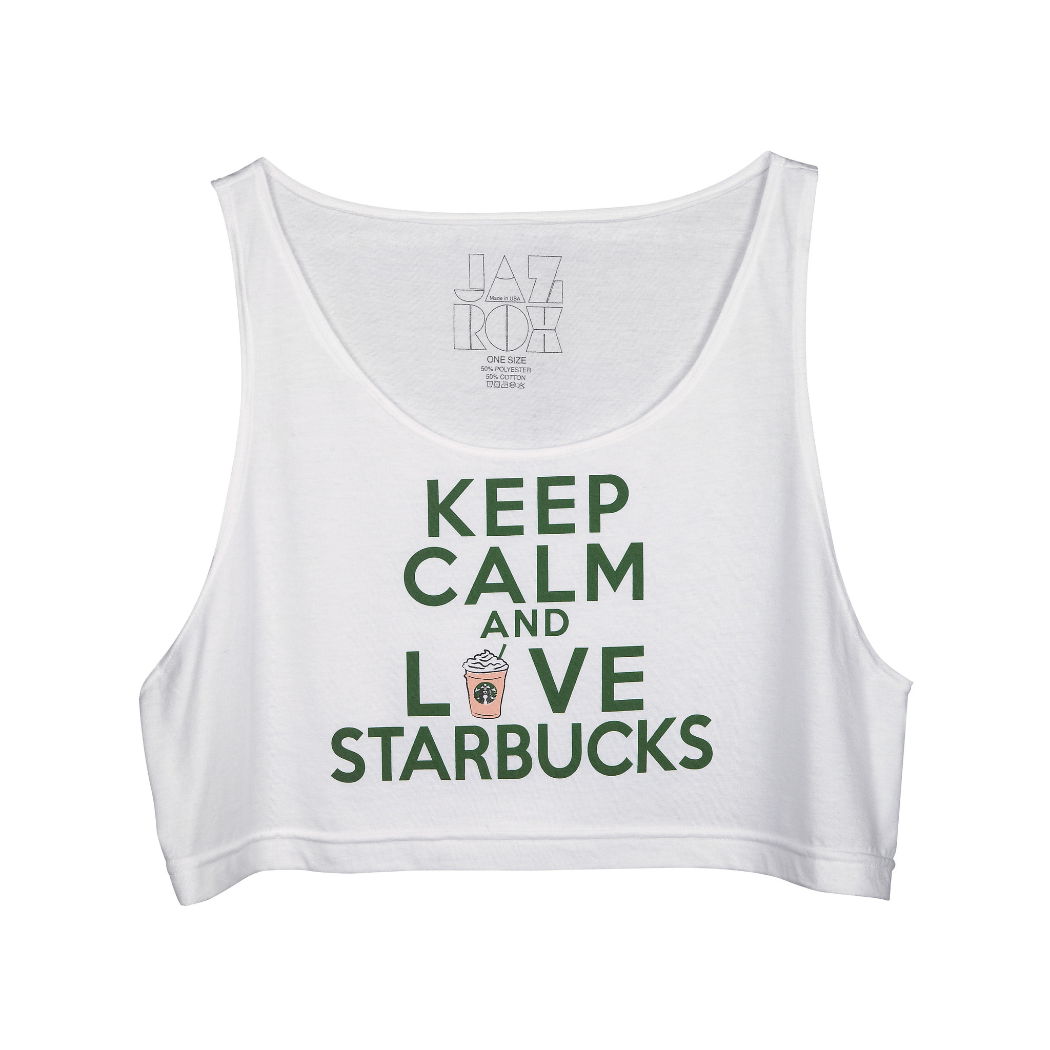 Keep Calm Loose Crop Tank – JazRox
