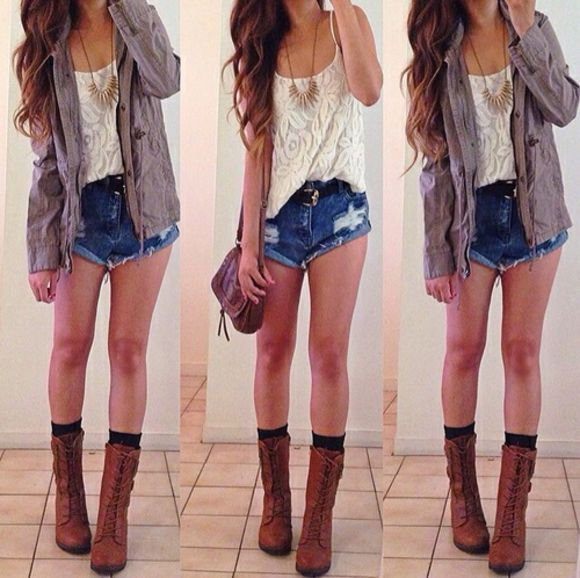 cape jeans hot girl blouse style navy cowboy boots white coat jacket top pants denim short blue vintage jewels shoes shorts t-shirt summer outfits lace lace shirt lace top ripped shorts cut offs summer shorts bag outfit summer outfits summerish inspiration,