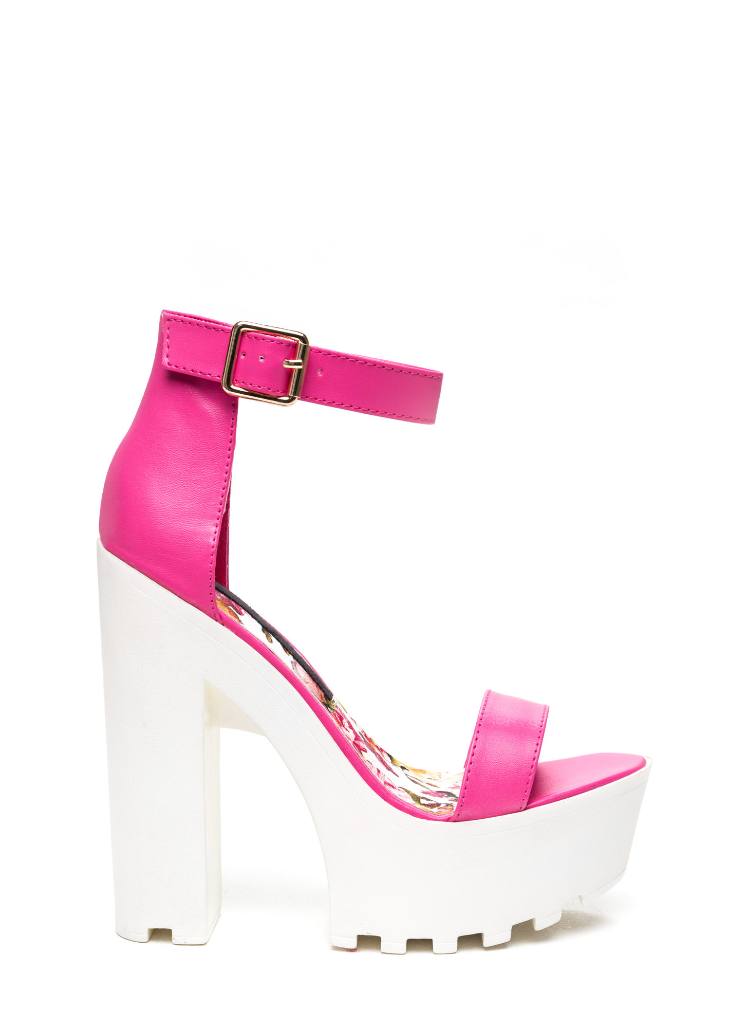Hot Pink And White Heels