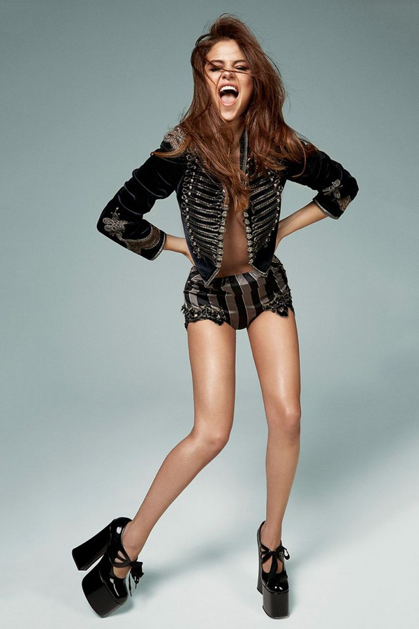 shorts jacket editorial sandals platform sandals selena gomez black jacket celebrity style
