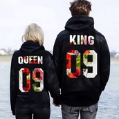 coat,king and queen,couple sweaters,matching couples,hoodie,hoodie coat,pullover