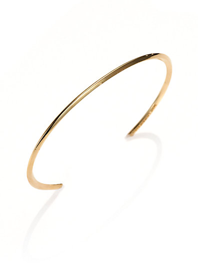 Saint Laurent - Knife-Edged Vermeil Bracelet - Saks.com