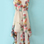 White Sleeveless Bandeau Floral High Low Dress - Sheinside.com
