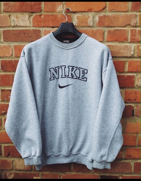 sweater, nike, vintage pullover, oversized sweater, sweat