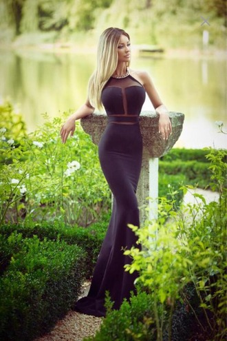 dress ball ball gown dress bodycon dress long prom dress tight tight dress cutout cut-out dress prom dress black dress