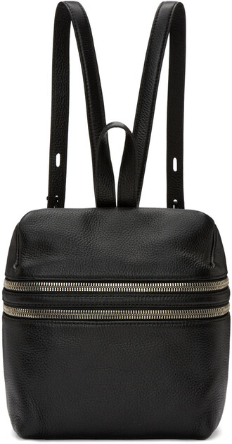 zip backpack black bag
