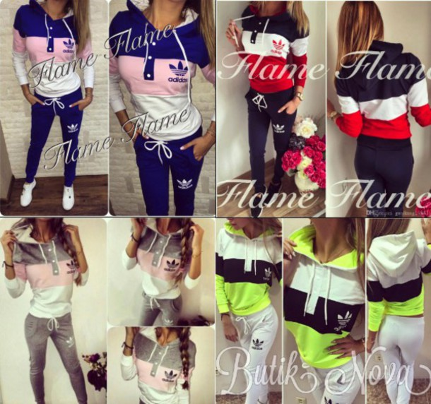 5fd788bc3d4 sweater, adidas, womens sweatsuits, sweatshirt, bottoms, pink, blue ...