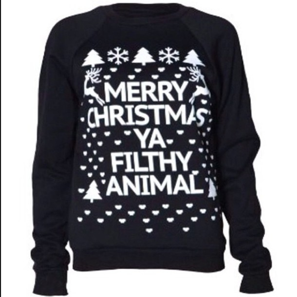 Sweater Christmas Sweater Black And White Wheretoget