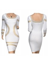 Metallic Bandage Dress - Party Dresses - Dresses - Clothing