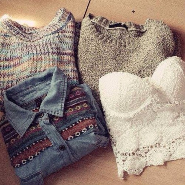 sweater blouse top