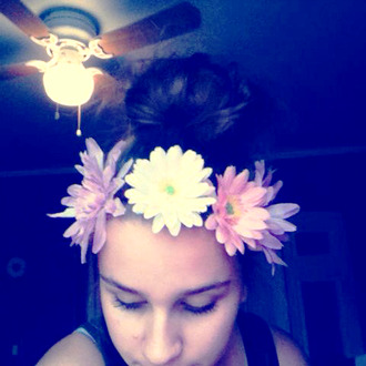 jewels flower crown flowers white daisy pink purple hippie festival hair headband crown