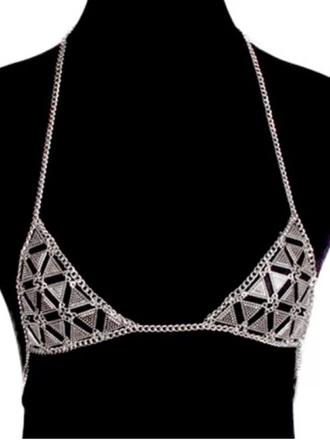 underwear girly bra bralette chain bra chain bralette